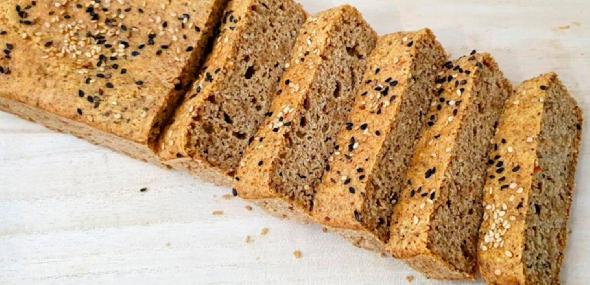 Pão low carb (sem glúten, zero lactose e zero açúcar)